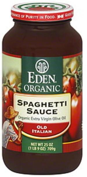 Eden Organic Spaghetti 25 Oz Sauce - 6 pkg