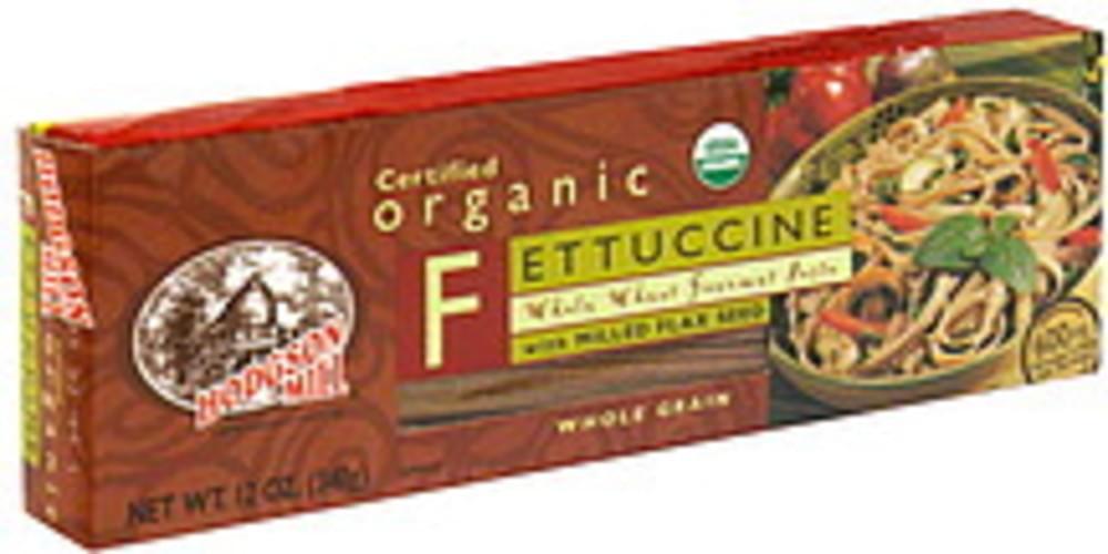 Hodgson Mill Organic Whole Wheat Fettuccine W/ Milled Flax Seed 12 Oz Pasta - 12