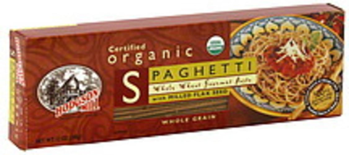 Hodgson Mill Organic Whole Wheat Spaghetti W/Milled Flax Seed 12 Oz Pasta - 12 pkg