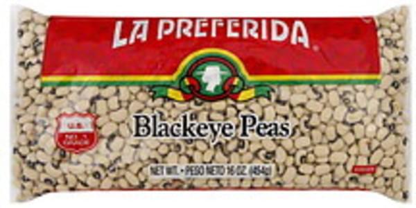 La Preferida Peas Black Eye 16 Oz