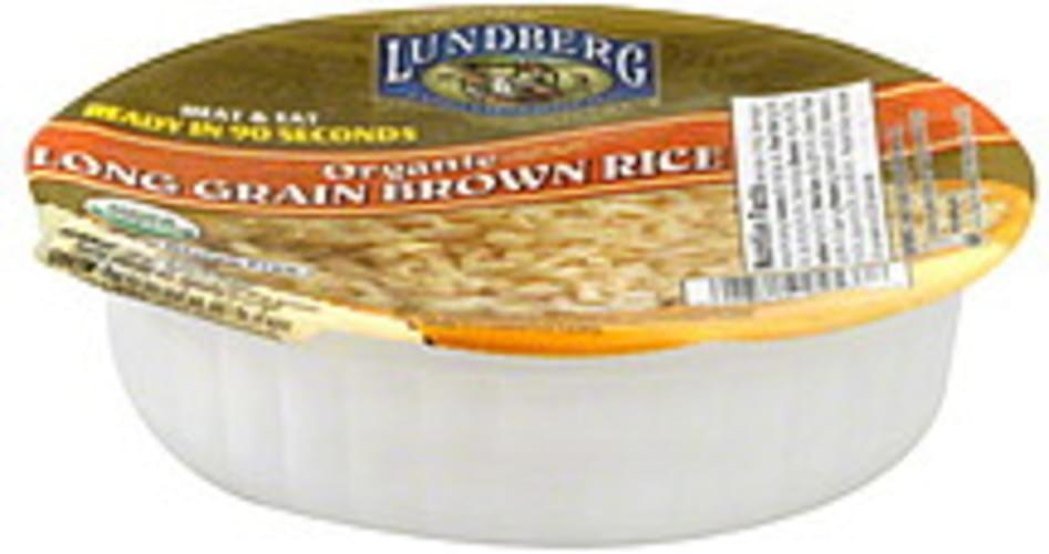 Lundberg Family Farms Organic Gluten Free  Long Grain 7.4 Oz Brown Rice - 12 pkg