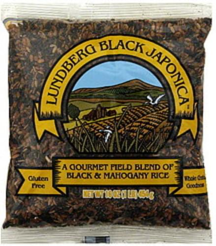 Lundberg Family Farms Black Japonica 16 Oz Rice - 12 pkg