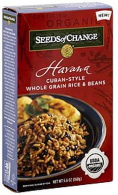 Seeds Of Change Rice & Beans Havana Cuban-Style Whole Grain 5.6 Oz
