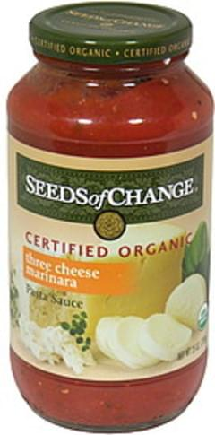 Seeds Of Change Marinara Sauce Three Cheese 24 Oz