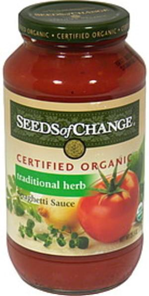 Seeds Of Change Herb 24 Oz Spaghetti Sauce - 6 pkg
