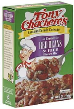 Tony Chachere's Dinner Mix Creole Red Beans & Rice 7 Oz