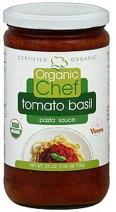 Organic Chef Pasta Sauce Tomato Basil 25 Oz