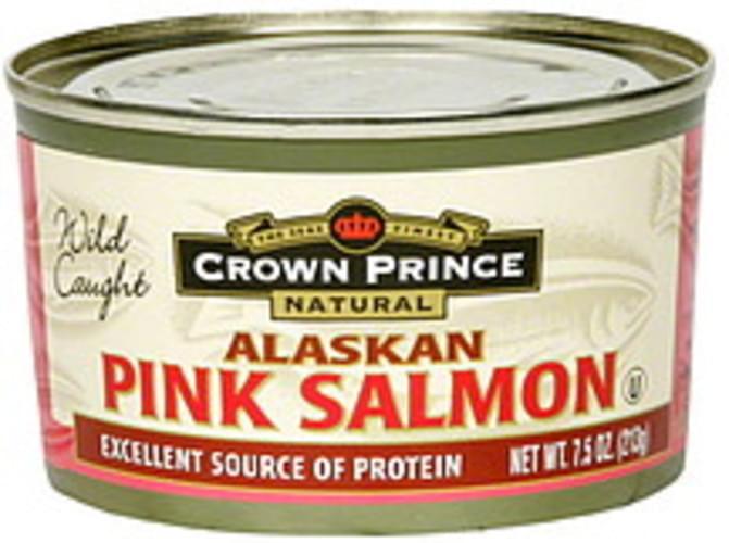 Crown Prince Alaskan Low Sodium Pink 7.5 Oz Salmon - 12 pkg