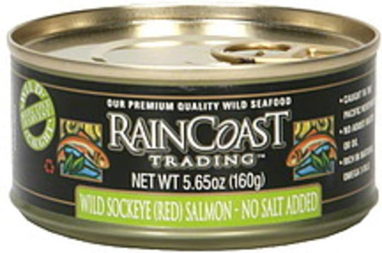 Raincoast Trading Wild Sockeye (Red) 5.65 Oz Salmon - 6 pkg