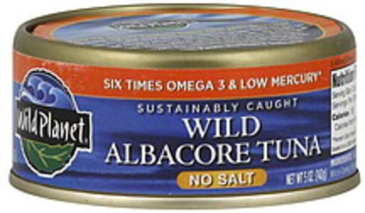 Wild Planet Wild Albacore No Salt Added 5 Oz Tuna