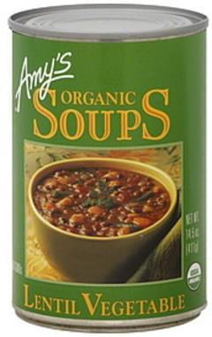 Amy's Soup Lentil Vegetable Organic 14.5 Oz