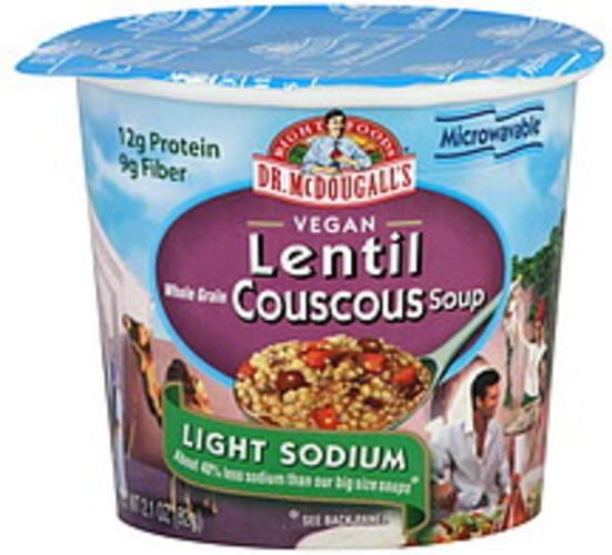 Dr. Mcdougall's Lentil Couscous 2.1 Oz Soup - 6 pkg