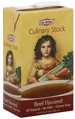 Gia Russa Culinary Stock Beef Flavored 32 Oz