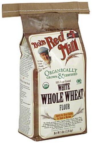 Bob's Red Mill White Whole Wheat 5 Lbs Flour - 4 pkg