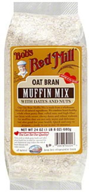 Bob's Red Mill Muffin Mix Oat Bran With Dates & Nuts 24 Oz - 4 pkg