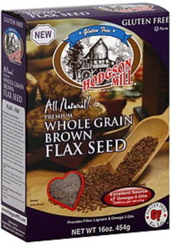 Hodgson Mill Brown 16 Oz Whole Grain Flax Seed - 8 pkg