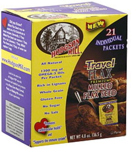 Hodgson Mill Travel Flax 4.8 Oz Milled Flax Seed - 6 pkg