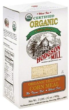 Hodgson Mill Corn Meal Organic Yellow 32 Oz