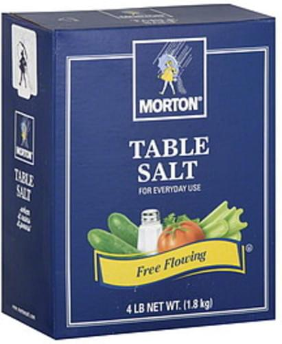 Morton 4 Lb Table Salt - 9 pkg, Nutrition Information | Innit