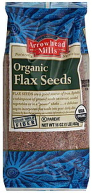 Arrowhead Mills Flax Seeds 16 Oz - 12 pkg