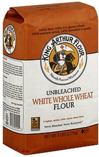 King Arthur Flour White Whole Wheat 5 Lb Flour - 8 pkg