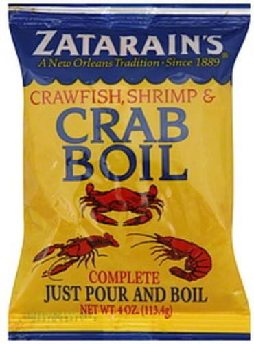 Zatarain S Seasoning Crawfish Shrimp Crab Boil 4 Oz 12 Pkg