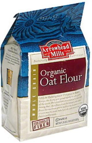 Arrowhead Mills Whole Grain Oat 24 Oz Organic Flour - 12 pkg