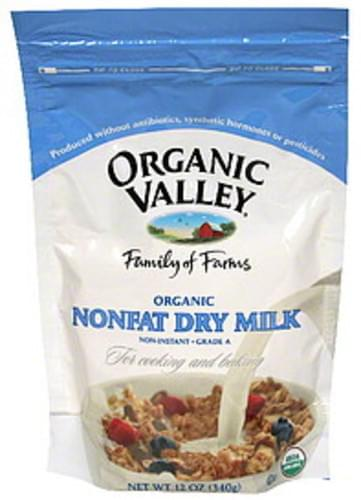 Organic Valley Nonfat 12 Oz Dry Milk - 6 pkg