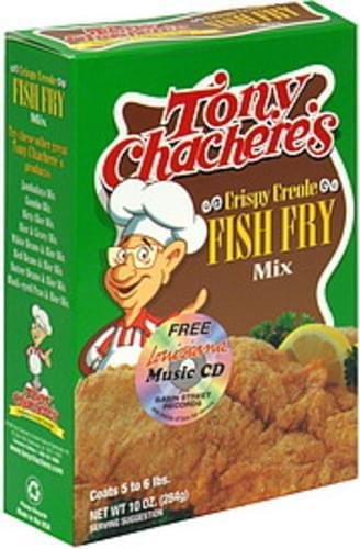 Tony Chachere's Fish Fry Mix Crispy Creole 10 Oz - 12 pkg