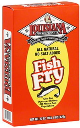 Louisiana Fish Fry Products All Natural No Salt Added 22 Oz Fish Fry - 12 pkg