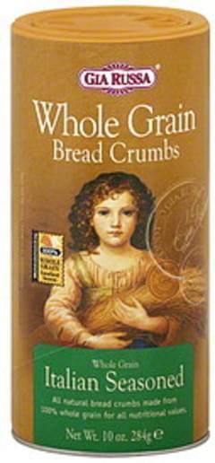 Gia Russa Bread Crumbs Whole Grain Italian Seasoned 10 Oz