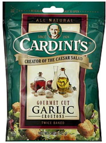 Cardini's Twice Baked Garlic 5 Oz Croutons - 12 pkg