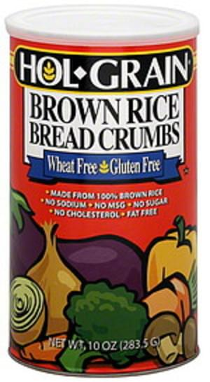Hol-Grain Brown Rice 8 Oz Bread Crumbs - 6 pkg