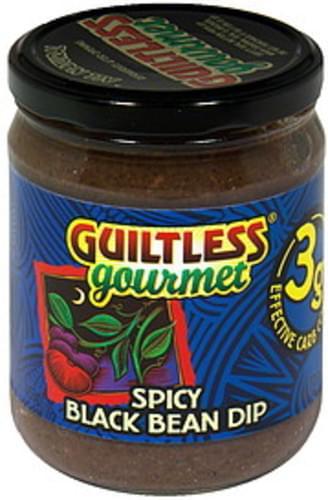 Guiltless Gourmet Spicy Black 16 Oz Bean Dip - 12 pkg