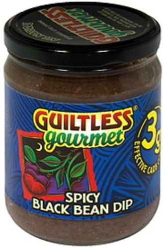 Guiltless Gourmet Spicy Black 16 Oz Bean Dip - 12 pkg