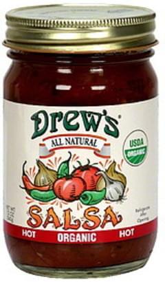 Drew's Salsa Thick & Chunky Hot 12 Oz