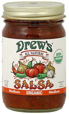 Drew's Salsa Thick & Chunky Medium 12 Oz