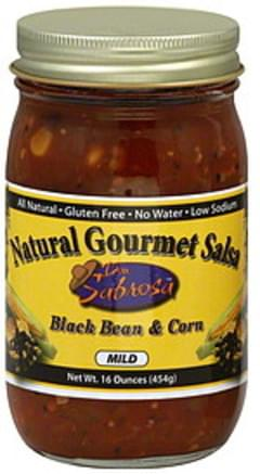 Don Sabrosa Salsa Black Bean & Corn Mild 16 Oz