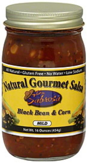 Don Sabrosa Black Bean & Corn Mild 16 Oz Salsa - 6 pkg