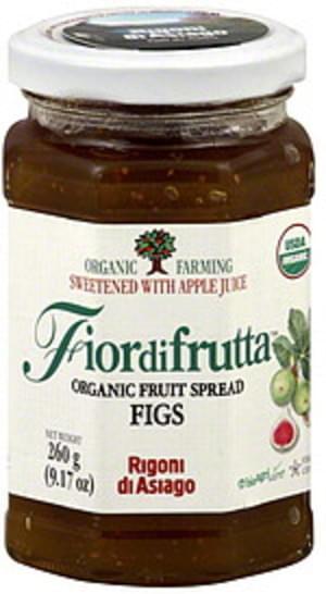 Fiordifrutta Organic Fruit Spread 9.17 Oz Fig - 6 pkg