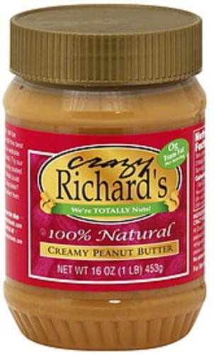Crazy Richard's Creamy 16 Oz Peanut Butter - 12 pkg