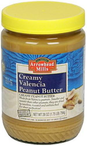 Arrowhead Mills Creamy 26 Oz Peanut Butter - 6 pkg