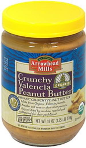 Arrowhead Mills Crunchy; Organic Peanut Butter - 12 pkg