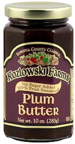 Kozlowski Farms Plum Butter Sonoma County Classics 10 Oz