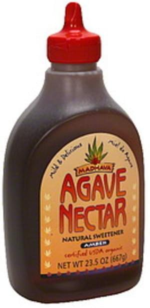 Madhava Amber 23.5 Oz Agave Nectar - 6 pkg