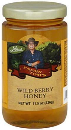 Papaw Tom's Honey Wild Berry 11.5 Oz