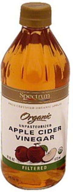 Spectrum Vinegar Naturals Unpasteurized Apple Cider Filtered 16 Oz