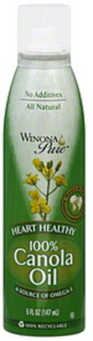 Winona Pure Heart Healthy 5 Oz 100% Canola Oil - 12 pkg