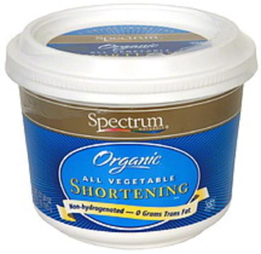Spectrum Organic All Vegetable 24 Oz Shortening - 6 pkg