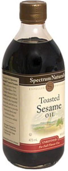 Spectrum Sesame Oil Naturals Toasted 16 Oz